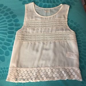 White Sheer Hollister Tank Top